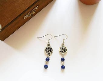 Elven Earrings: Countess Maelys (Lapis Lazuli)