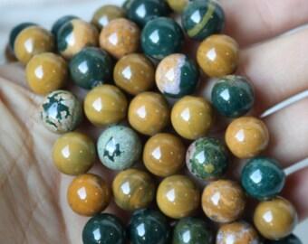 10mm Ocean Jasper Beads, Ocean Jasper Gemstone, AA Quality Beads, Ocean Jasper Rounds, High Quality Beads, 615 Supply, Gemstone Store, GS027