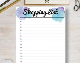 Printable planners stickers and printed calendars by for Grocery list template for mac