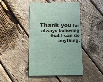 Thank you believing I can do anything greeting card
