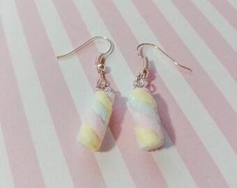 Mini Marshmallow Earrings, Polymer Clay Earrings