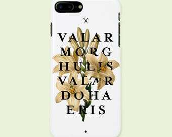 iPhone Case, Valar Morghulis, Valar Dohaeris. Game of Thrones inspired, impact resistant bumper. Ultra slim protective case cover for iPhone