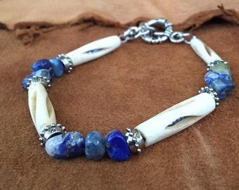 Native american bone beads