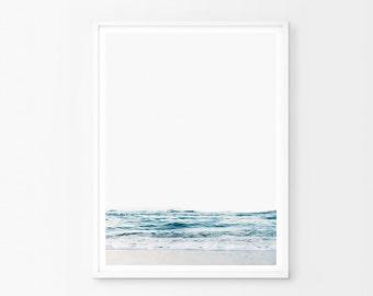 Ocean Waves Art Print, Ocean Photography Print, Ocean Print, Large Modern Print, Ocean Wall Art, Blue Wave Print, Water Print, Ocean Art
