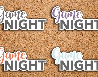 24 Game Night, Family Fun Time Header Sticker for 2017 Inkwell Press IWP-S64