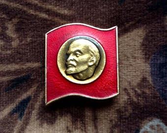 Vintage Enamel Lennon Pin