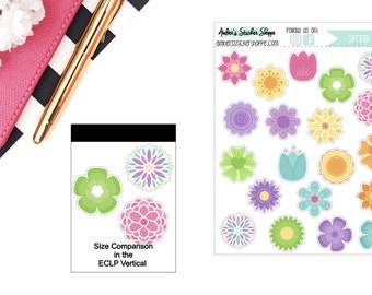 Spring Bloom Flowers Sticker for any Planner