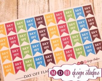 Day Off Planner Stickers, Work Schedule Planner Stickers, Functional Planner Stickers