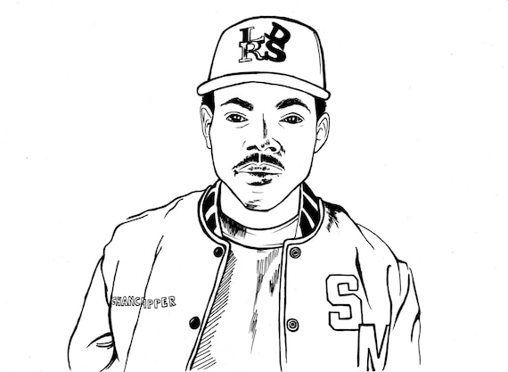 Coloring Book Chance Vinyl The Rapper Sticker On