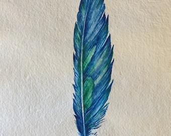 Spirit Feather ~ original watercolour painting