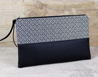 Etui - Tasche schwarz-weiß LORI