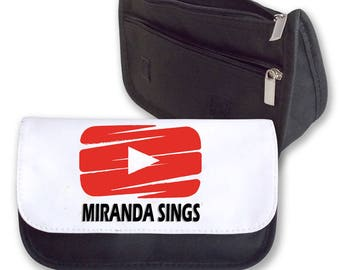 PLAY Button Youtube MIRANDA SINGS Pencil case / Clutch - make up bag