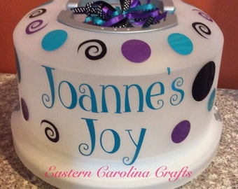 Personalized 2 in 1 Cake & Cupcake Carrier - Cake Saver