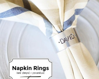 the NAPKIN RING (Individual)- Personalized & Hand Stamped