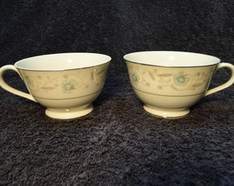 TWO Fine China of Japan English Garden 1221 Tea Cups 2 EXCELLENT!