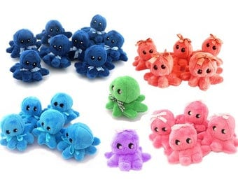 Octopus, plush octopus party favours,handmade octopus.Party bag favors.  Stuffed Octopus toy. Children's party goods