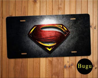 Superman Aluminium License Plate