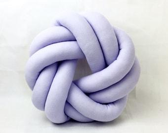 Circle Round Pale Purple Knot Cushion Pillow