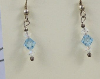 Swarovski crystals with sterling silver wires - EA448