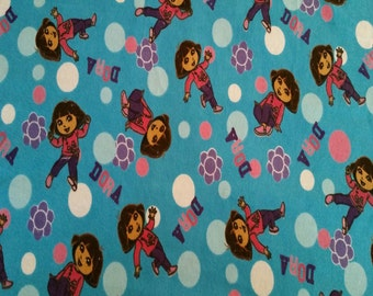 Dora (The Explorer) Flannel Fabric (By The Yard)