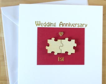 Wedding Anniversary Card 1st First 2nd 3rd 4th 5th