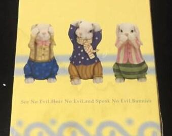 Hear No Evil, See No Evil, Speak No Evil Bunnies Figures