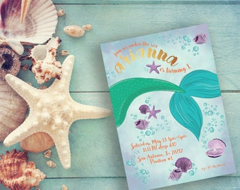 Mermaid Tail Invitation