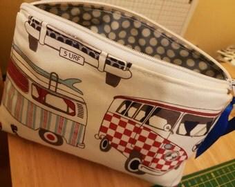 VW campervan cosmetic bag
