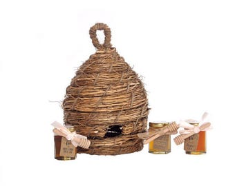 Bee Skep, Old Fashioned Bee Hive, Rustic Wedding Decor, Rustic Centerpiece