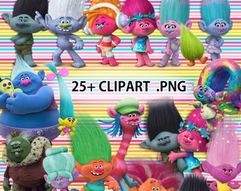 TROLLS new movie more than 25 CLIP ART transparent background