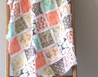 Modern rag quilt
