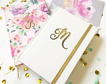 Script Monogram Journal - Bridesmaids Gifts - Bridal Party Gifts - Maid of Honor - Wedding Favors