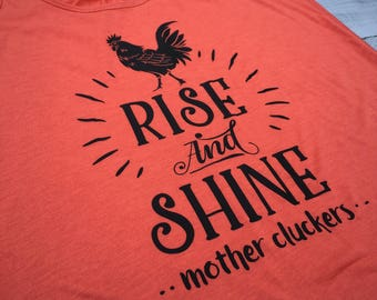 Mother Cluckers Shirt, Chicken Shirt, Funny Gym Tank Top, Funny Tank Tops, Fitness Tank, Workout Womens shirt, Crossfit, Size S-XXL, FL23B