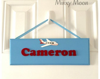 Personalised wooden door signs