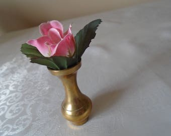 miniature brass vase  doll's house decor