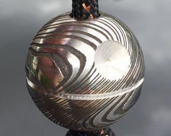 Damascus Death Star Bead