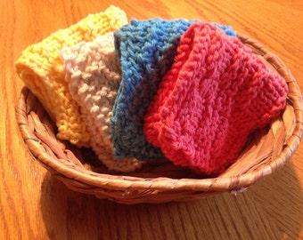 Hand Knit Wash Cloths