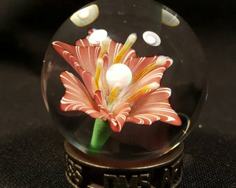 Pink Lily with opal