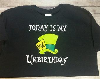 Mad Hatter Unbirthday t-shirt