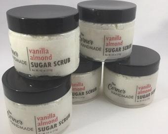Vanilla Almond Sugar Scrub | Foaming Sugar Scrub, Whipped Sugar Scrub, Scented Scrub, Handmade Sugar Scrub, Homemade Scrub, Home Made Scrub