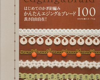 Crochet Edging Braid Japonese book Pdf file Embroidery crochet  Japan lace