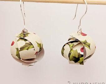 Handmade Paper Lantern Earrings