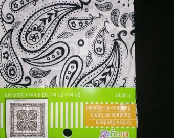1pk white craft bandana