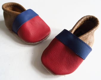 Leather baby shoes size 19 (chromium-free)