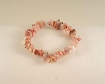 Peruvian Pink Opal Chip Stretch Bracelet