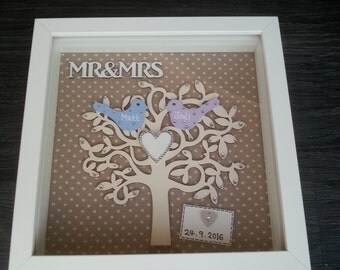 Mr&Mrs Wedding Box Frame Picture