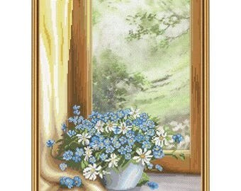 Cross Stitch Kit Floral fantasy