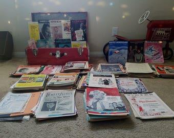 L@@K!!! Large Lot 500 + Pieces Vintage Sheet Music 1920's 1930's 1940's 1950's