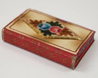 Early 19th Century Folk Art Velvet Theorem Pincushion Pin Cushion English Circa 1820 Georgian