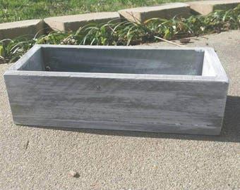 Rustic Box, 3 Mason Jar Wood Holder, Planter